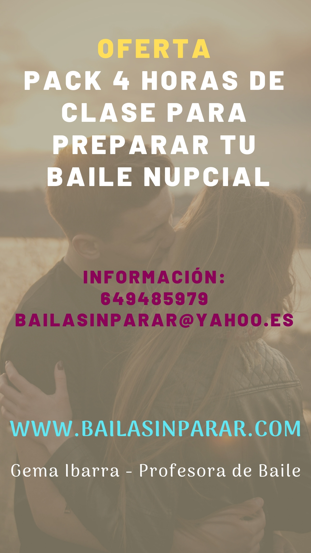 OFERTA PACK 4 HORAS CLASE BAILE NUPCIAL
